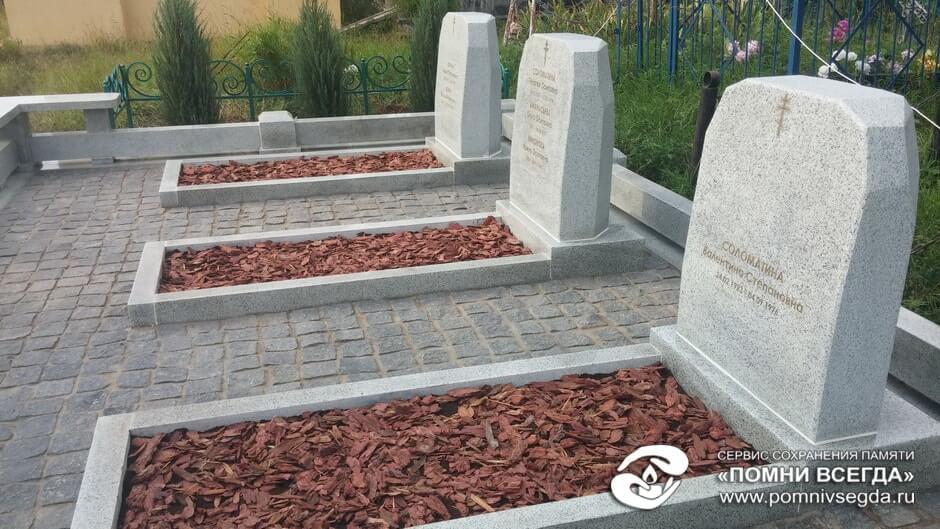 Мемориальный комплекс из двух видов гранитов Раменское памятник на могилку Калтан